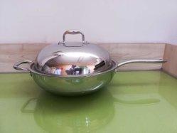 クリアランスセールの家庭電化製品。 ステンレス鋼の中国の中華なべ、誘導の調理器具、台所道具