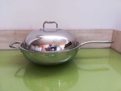Uitverkoop, Roestvrij staal Cookware, Chinese Wok, Keukengerei