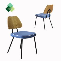 현대 나무로 되는 금속 테이블 의자 및 두 소파 다방 간이 식품 대중음식점 가구 Zsrf01