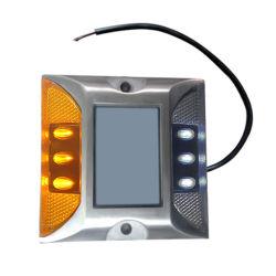 타전된 튼튼한 반사체 6 LEDs 태양 도로 장식 못