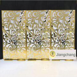 Vintage en acrylique de haute qualité toile de fond d'or de mariage decoration
