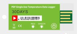 Het Beschikbare van de Koude Ketting van Pdf Registreerapparaat voor éénmalig gebruik van het Registreertoestel van de Gegevens van de usb- Temperatuur