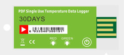 La chaîne du froid à usage unique PDF Enregistreur de données de température USB (YSUP-12)