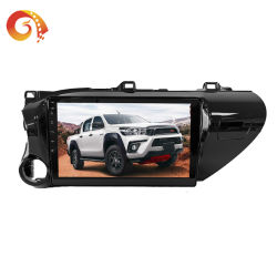 Hilux doble DIN 10inch Android 1024*600 HD 1080p Full Pantalla Táctil Enlace Espejo Bluetooth estéreo de la APK Vlc el sistema de radio de coche reproductor de DVD con GPS para coche reproductor de vídeo