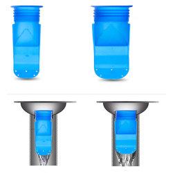Insekt-beständiges und Anti- Geruch-Rückstrom-Verhinderung-Silikon-Duckbill Ventile für Badezimmer-Abwasserkanal-Fußboden-Abfluss