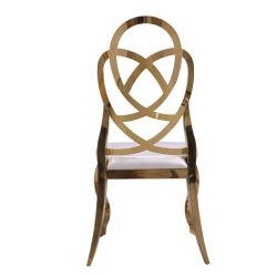 후에 간절히 원한 왕 디자인 황금은 의자를 식사하는 호텔 수신 연회를 위한 스테인리스 의자를 금속을 붙인다