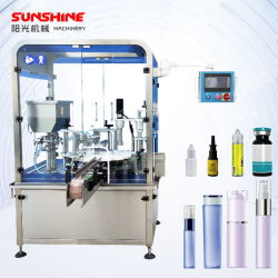 A pomada de produtos farmacêuticos Medicina Perfume automática da nata de cosméticos de óleo essencial de Enchimento de garrafas de vidro plástico pequena máquina de estanqueidade de nivelamento