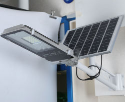 100W IP65 LED Outdoor Integrated Solar Street Light met Lithium Battery
