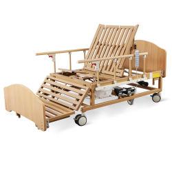 Sk-D07-1 het houten Materiële Bed van het Ziekenhuis van het Type Elektrische Medische voor Zieke Patiënt