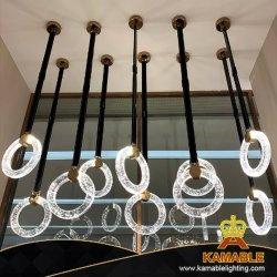 실내 디자인 현대 원형 가죽 LED 펀던트 점화 (KAPD8032)