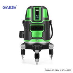 Auto rotativo che livella l'indicatore luminoso verde del livello del laser con il treppiedi