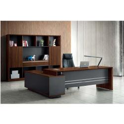 新しいデザイン終わるメラミンの贅沢な事務机のL字型管理表の専用事務室の机