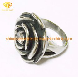 Roestvrij staal SCR2966 van de Ring van de Bloem van de Juwelen van het Roestvrij staal van de manier het Gietende