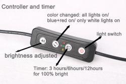 Aquários mini fábrica terminal cristal luz LED de luz para o Crescimento e o meio marinho