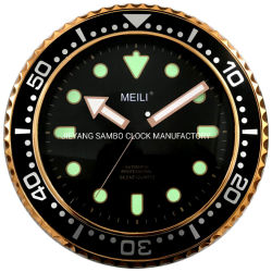 Orologio luminoso nero Analog della plastica del quarzo della decorazione di pollice 30cm Meili dell'OEM 12