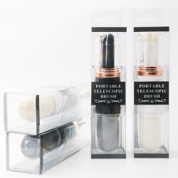 Brosse de maquillage Set - 4 pcs composent les Pinceaux blush sourcils cosmétiques Fondation Eyeliners Eye Shadow composent Ensemble de voyage avec support pour Norida