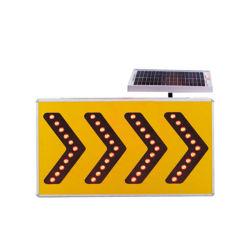 LED solaire réfléchissante flèche de la sécurité routière Les panneaux de signalisation