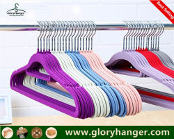 Recouvert de caoutchouc / plastique / Crochet de suspension de velours pour Cloth Shop (GLPH20)