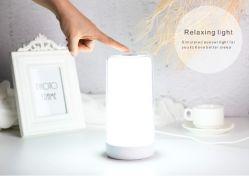 日の出が熱い販売を感じる軽いセンサーの上の接触を模倣する自然な音の居眠りLEDのシミュレーションの気分の照明ランプはランプを目覚める