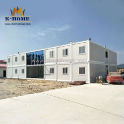 プレハブモジュラーポータブルサイトオフィスキャンプシッピングフラットパックの宿泊施設 フィリピン用コンテナ