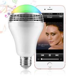Slimme RGB LEIDENE van de Spreker van de Lamp van het Huis Draadloze Lichte Bol Bluetooth