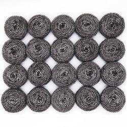 La limpieza al por mayor de la cocina Scourer galvanizado/Acero Inoxidable de lana con paquete colectiva