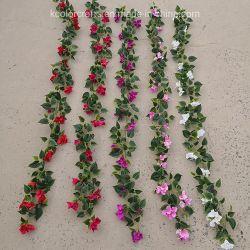 Дешевых искусственных цветов бугенвильи декоративные искусственные цветы гирлянда для украшения на стену