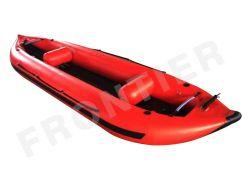 4m/13FT PVC/Hypalon caiaque inflável com piso de feixe para a pesca/Racing