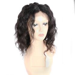 Parrucca naturale del Frontal del merletto della parrucca della chiusura del merletto dei capelli umani dell'onda di acqua