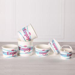 Les cuvettes de crème glacée à emporter le yogourt glacé Coupe du papier