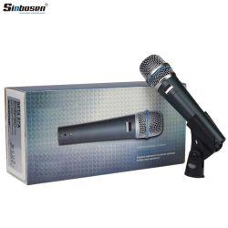 Dispositivo de bolsillo con cable de micrófono vocal Supercardioid Beta57un micrófono dinámico instrumento