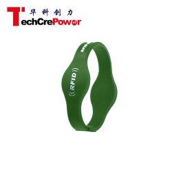 G018-65 Cabeça Oblatos 13.56MHz pulseira de silicone de RFID com Fudan Chip M1