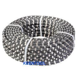 11.5mm Gummidiamant-Draht mit gesinterten Diamant-Raupen für natürlichen Steinsteinbruch-Ausschnitt
