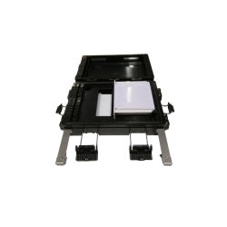 12fo IP65 Cierre Divisor DE Empalme DE Fibra Zwarte ABS Plastic Openlucht 2 van het Dutje in 2 uit