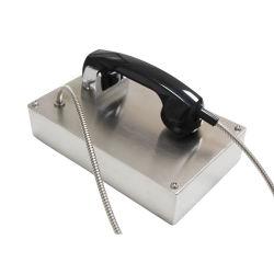 VoIP analógica teléfono VoIP retro de acero inoxidable No-Dial blindado Paciente Teléfono Teléfono