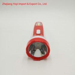 Rode Kleur 8666 het Nieuwe ABS Plastic Flitslicht van de Toorts van Rechargeble van de MAÏSKOLF Zij Lichte 1W