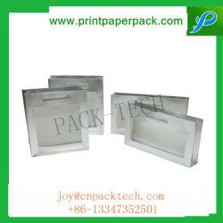 Boîte de chocolats de fantaisie de l'impression papier d'emballage Boîte avec fenêtre PVC