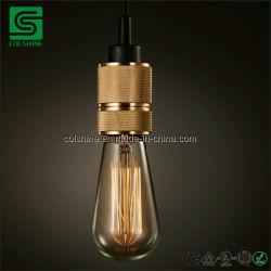 Colshine E27 Weinleseedison-hängender Lampenhalter mit einem Kabel-Griff