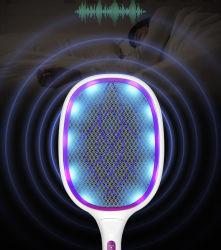 Elektrischer großer Programmfehler Zapper Schläger, Moskito-Mörder, Frucht-FliegeSwatter Zap, Schädlingsbekämpfung, 4.000 Volt, USB, der, LED-Beleuchtung, die entfernbare Taschenlampe nachladbar ist, eindeutig