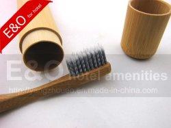 Cepillo de Dientes de madera de bambú con tubo de bambú