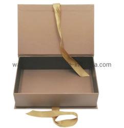 Stivali personalizzati Luxury Book Shape scatola da imballaggio Cosmetic Box rigida Confezione regalo con nastro