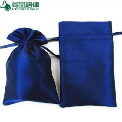 Venda por grosso personalizado Cordão Saco acetinado bolsa com logotipo impresso
