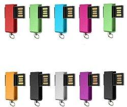 Comercio al por mayor/Lote/giratorio grueso resistente al agua de la unidad Flash USB 2.0 Mini llavero USB pulgar U disco 128mb 256mb 512MB 1GB 2GB 4GB 8GB 16GB 32 GB