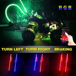 Venda por preço de fábrica 6ft 12V perseguindo com controle remoto de cor RGB ATV luz LED de peças