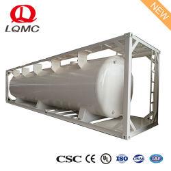 低価格の広く利用された20FT 40FTの重油ISOタンク容器、オイルのためのISOタンク容器、容器20フィートのタンク
