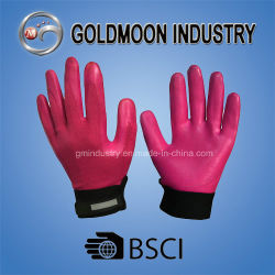 Todas as Luzes Vermelhas de nitrilo Camisa de Nylon Acabamento de espuma luvas de trabalho de Segurança Mecânico