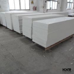Branco puro pedra artificial a folha de superfície sólida do painel de parede