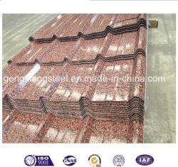 Matériaux de construction couleur métal galvanisé recouvert de tuiles de toit de tôle de toit