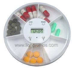 Rond en plastique Timer Smart 7 jour pilule Boîte avec minuteur numérique