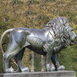 ホーム装飾の青銅のライオン動物の彫像